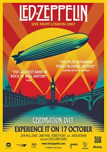 LED ZEPPELIN - Celebration Day - Music Concert Poster Art