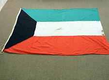 Vintage Kuwait flag Nautical Country Ship Flag Original! Cotton Large Ocean Boat