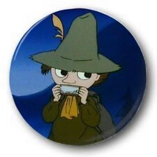 "SNUFKIN - 25mm 1"" Button Badge - Kids Retro TV Novelty Nostalgia Moomin"