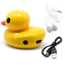 Mini Cute Duck MP3 Music Player Support Micro TF/SD Card Up to 32G Yellow New