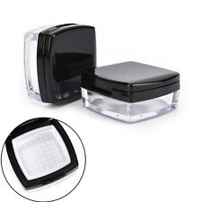 10g Empty Cosmetic Sifter Loose Powder Jar Container Puff Box Makeup Travel US
