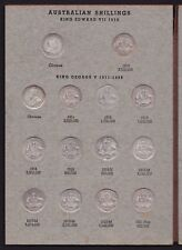 Australian Shilling Set in Dansco Push-in Album All dates & Obverses 53 coins