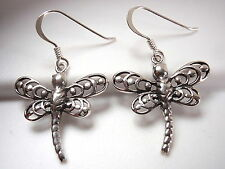 Dragonfly Earrings 925 Sterling Silver Dangle cottage lake fishing boat beach