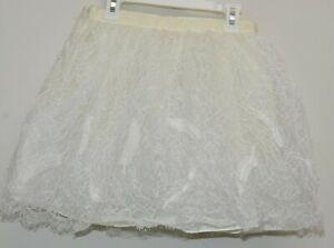 NEW Jacadi Paris Girls Dress y Skirt AMELIA Delicate Lace Ivory 10 12 A