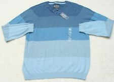 New Sweater XXL Cotton Man's 2XL Henley Crewneck Blue Top American Rag Cie NWT