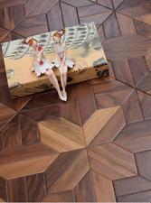 Walnut Wood Flooring Tile Art Deco Hardwood flooring Wallpaper Woodworking Board