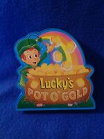 Vintage Lucky Charms Cereal Promotional Lucky's Pot O'Gold Coin Plastic Bank