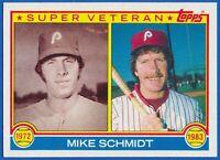 1983 Topps #301 Mike Schmidt Super Veteran Philadelphia Phillies HOF NM-MT