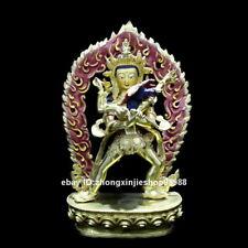 """10 """"Tibet Vajradhara Vajrasattva Yab-Yum Nepal Bronze 24 Gold Buddha Statue"""