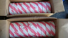 20 Rolls PVC Flagging / Survey Tape 25mm X 75M Red / White Striped
