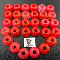 30 Knex Translucent Pink Red Head Top Pieces - K'nex Standard Parts Lot