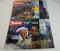 Trains The Magazine Of Railroading Lot Of 8 1992