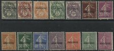 Andorra 1931 overprinted values to 75 centimes mint hinged
