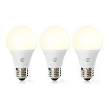 Nedis WIFILW31WTE27 Wi-Fi Smart LED Bulb Warm White E27 3-Pack