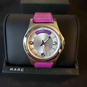 NEW MARC BY MARC JACOBS MBM1262 PURPLE BABY DAVE WATCH LEATHER