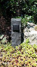 Einfache Gartensteckdose in Basaltpalisade, Außensteckdose, Naturstein