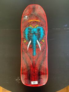 Powell Peralta Mike Vallely Elephant Skateboard Red Sz 10