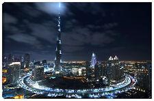Quadro moderno DUBAI 100x60 abu dhabi arabia saudita Burj Khalifa vacanza città