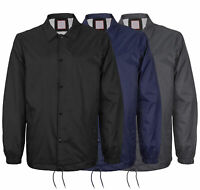 Men's Windbreaker Lightweight Waterproof Sherpa Button Up Athletic Coach Jacket