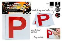 2pcs Driver Magnetic Red P Plate Brand New