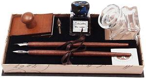 Kalligraphie Geschenkset mit Löschwiege Holzfederhalter Schreibtisch Deko