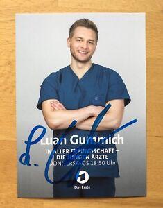 Luan Gummich AK ARD Die jungen Ärzte Autogrammkarte 2021 original signiert