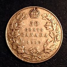 1917  Canada George V 50 Cents