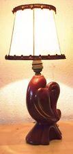Lampe de table Art Déco Lampe Oiseau en Céramique Rouge et OR