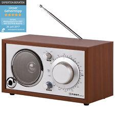 Retro Radio mit AUX-IN für Handy, Nostalgieradio, Küchenradio Holz Gehäuse AM/FM