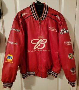 Chase Authentics Wilsons Leather Dale Earnhardt Jr #8 Reversible Jacket Large