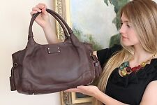 Kate Spade RARE MacDougal Alley STEVIE Tote Bag Saddle Brown purse handbag