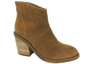 Steve Madden Women's Shrines Block-Heel Booties Chestnut Suede Size 6.5 M