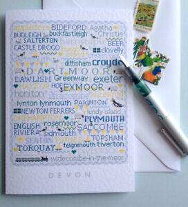 DEVON Large A5 Greetings-Letter Card Cross Stitch Sampler Design