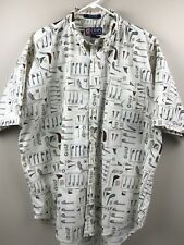 Chaps Ralph Lauren Golf Theme Shirt Short Sleeve Button Down Casual Mens Size XL