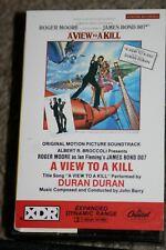 RARE DURAN DURAN A VIEW TO A KILL 1985 ORIGINAL SOUNDTRACK CASSETTE JAMES BOND