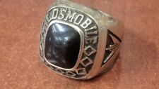 OLDSMOBILE CLASS RING 10K YG WITH BLACK ONYX STONE SIZE 7 Free Shipping!!
