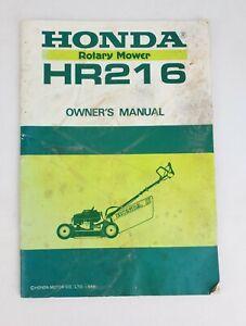 Honda OEM Owners Manual Rotary Mower HR216 1986
