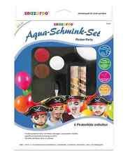 Snazaroo Aqua Schmink-Set Piraten Karneval inkl. Hüte Fasching Verkleiden NEU