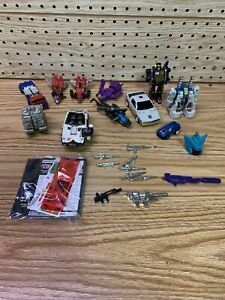 Lot of vintage 1980s G1 transformers And Gobots weapons, parts, accessories,