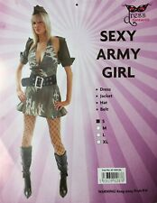 Sexy Army Girl Military Soldier Adult Women Costume Camo Dress Uniform XL