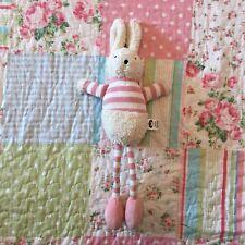 Jellycat Bredita Bunny Chime Rabbit Pink Striped Baby Soft Toy Comforter