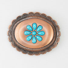 Turquoise Floral Womens Belt Buckle NEW Free Gift Box