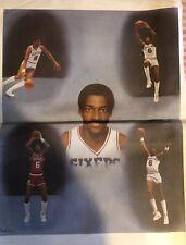 """Dr. J. Julius Erving Portrait Poster Approximate Size: 17.5"""" x 22.5"""" Very Rare"""