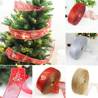 Christmas Ribbon Lace Xmas Tree Decor Wedding Party Decor Gift Wrapping Ornament