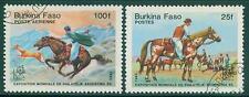[JSC] 1985 Burkina Faso Postes Horse Stamps