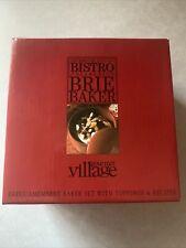 New listing Gourmet Du Village Bistro Brie Baker w/Lid in Box: Vgc.