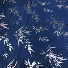 Bamboo Chinese Satin Fabric Floral Brocade Faux Silk Cloth Tang Suit Sew Craft