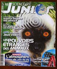 Science et vie junior n°216; Dossier; Les pouvoirs étranges des animaux