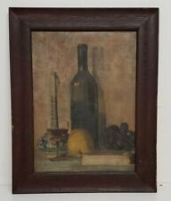 Antique Still Life Oil Framed 16.5x20.5
