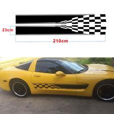 Auto Side Body Graphic Aufkleber Racing Auto Tür Streifen Aufkleber Wasserdicht